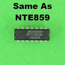 Motorola Tl084Cn / Mc34004P / 34004P Ic Jfet Input Op Amp Dip Same as Nte859 New