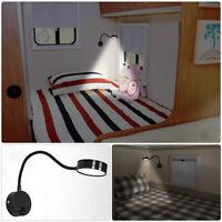 12V LED Spot Reading Light Switch Van Caravan Camper Boat Interior White Light