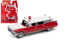 JOHNNY LIGHTNING JLSP098 HOBBY EXCLUSIVE RED / WHITE 1959 CADILLAC AMBULANCE
