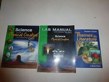 ABeka 9th grade Science of the Physical Creation Textbook & Lab Manuals