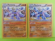 2x Pokemon BW Plasma Blast Machamp - 49/101  Foil NM Holo Rare Play Set