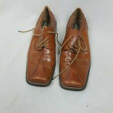 Zengara Mens Brown Leather Oxfords Shoes 8.5 M