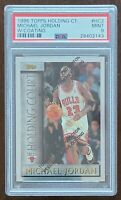 HOF Michael Jordan 1996-97 Topps Holding Court w Coating PSA 9 Chicago Bulls