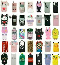 Cute 3D Cartoon Silicone Case Cover For iPhone 12 11 Pro 6 7 8 Plus XR XS MAX X