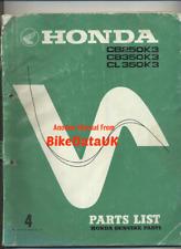 Honda CB250 CB350 CL250 CL350 K3 (1971) Genuine Parts Catalogue CB 250 350 CP30
