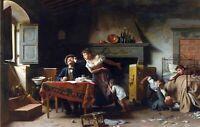 Home Sweet Home by Italian  Pietro Saltini. Life Art .  11x17 Print