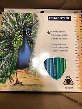 Staedtler® Triangular Colored Pencil Set, H/#3, 2.9mm, 48 Assorte 031901950491