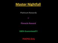 Master Nightfall Completion Platinum Rewards (PS4) (PS5) 100% Guaranteed!