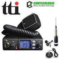 TTI TCB-560 Dynamic Squelch DSS 12-24V CB Radio With Magnetic Mount Antenna