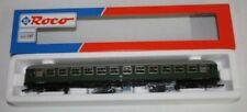 Vagones de pasajeros de escala H0 verdes analógicos para modelismo ferroviario
