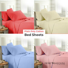 New Plain Fitted Valance Bed Sheets Mattress Tear Resistant Skirt Multicolour UK