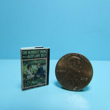 Dollhouse Miniature Bobbsey Twins On An Airplane Trip Book with Pages TIN3200