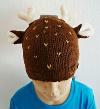 M99 Moshiki Children's Hat Knitted Cap Deer Fairtrade Hand-Knitted