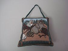 "USA Made NWOT Raccoon Squirrel 5.75"" x 5.75"" Tapestry Door Knob Pillow #329"