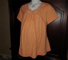 NEW Maternity Top 1X = 2x 3x Pretty Pintuck Crochet Neckline Tunic Plus Size NWT