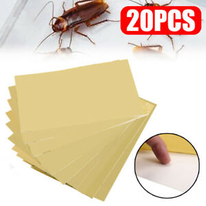 20Pcs Home Use Cockroach Roach Glue Traps Paper Disposable Control Insect Pest