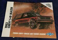 BG912 Vtg 1983 Chevrolet Chevy Chev S10 Blazer Dealer Sales Brochure