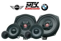 MTX TX6.BMW e MINI KIT 3 VIE SUBWOOFER MIDWOOFER 10cm TWEETER CROSSOVER 450W rms