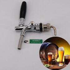 More details for new adjustable draft beer faucet g5/8 shank w/ chrome plating for kegerator tap