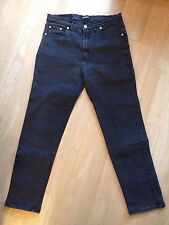 Womens' Vintage Charcoal Faded Black Jeans 14 Tapered Leg Universal Slimming