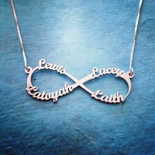 Infinity Name Necklace -family - Sterling Silver Forever Personalized Pendant