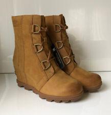 NEW! SOREL Joan Of Arctic Wedge II Women 8.5 Camel Brown Leather Boot Waterproof