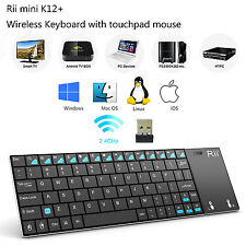 Rii K12 Wireless Mini Keyboard With Touchpad for PC Windows Computer IPTV Ps3