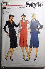 Style Sewing Pattern no. 1718 ladies suit size 14 Unused Vintage
