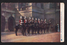 c1907 Tuck changing horse guards military London Uk postcard