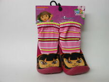 DORA THE EXPLORER LIL RUNNERS NON SKID SOCKS / SLIPPERS Size 24 Mo. NICKELODEON