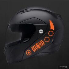 REFLECTIVE HELMET DECALS - 5 PIECE SAFETY KIT - ORANGE - BIKE, MOTORCYCLE, QUAD