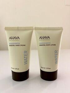 Ahava MINERAL HAND CREAM Deadsea Water Moisturizing Lotion TRAVEL 1.3oz ~ 2 PACK