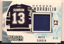 MATS SUNDIN 2016-17 LEAF ITG HEROES & PROSPECTS GAME USED JERSEY RELIC /25