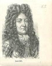 Louis XIV le Grand le Roi-Soleil 1638-1715 roi France et de Navarre GRAVURE 1883