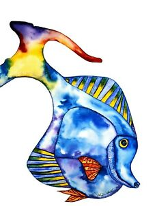 """John D Wibberley Cycle Art """" Fish Cycle """" Giclee Canvas Print, in various sizes"""