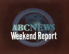 ABC NEWS WEEKEND REPORT LOGO ORIGINAL 1981 ABC TV PHOTO BILLBOARD