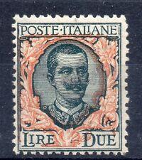 MC 1923 Regno Floreale 2 lire nuovo con gomma originale integra MNH**
