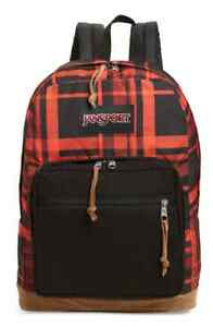JANSPORT JS00TZR660J Right Pack Expressions Men's Backpack Red Diamond Plaid NWT