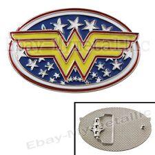 Super Hero Wonder Woman LOGO Removable Metal Belt Buckle