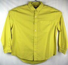 fresh produce shirt mens medium long sleeve button front yellow