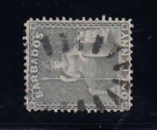 "Barbados, SG 74a (Scott 51c), used ""Watermark Sideways"" variety"