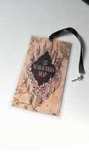Marque Page Harry Potter Bookmark marauder's map wand baguette magique Geek silv