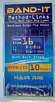 10 x 4 inch Band-It Method Links. Size12,Size16 Barbless Hook rigs.@TTB