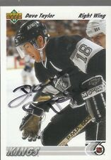 Autographed 91/92 Upper Deck Dave Taylor - Kings