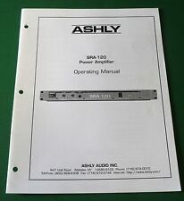 Ashly SRA-120 Power Amplifier Operating Manual
