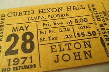 ELTON JOHN Original 1971__UNUSED CONCERT TICKET__Tampa, FL