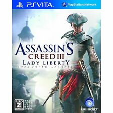SONY PS VITA Assassins Creed III 3 Lady Liberty Japan Import Japanese PSV Game