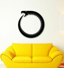 Vinyl Decal Zen Buddhism Infinity Sign Snake Time Religion Wall Sticker (ig1725)