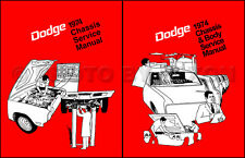 1974 Dodge Repair Shop Manual Charger Challenger Swinger Dart Coronet Monaco 74