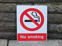 "1970s Original ENAMEL EX - British Rail  ""NO SMOKING"" SIGN    BR"